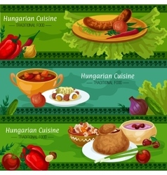 Hungarian cuisine banners for restaurant design vector image