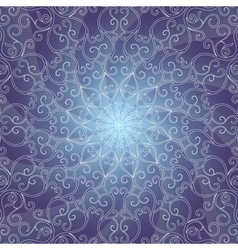Blue vintage frame with rays vector image
