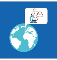 Eco science research microscope icon vector
