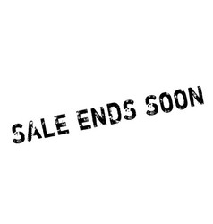 Sale ends soon rubber stamp vector