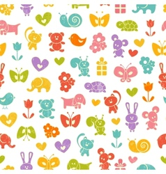 Baby seamless wallpaper vector image
