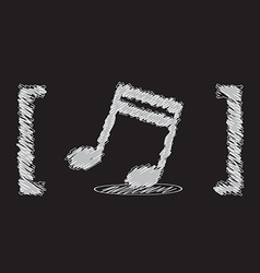 music note sketch design vector image
