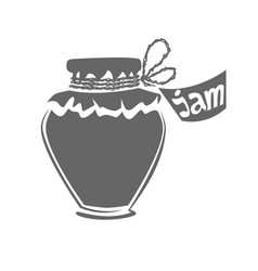 Jar of jam silhouette vector