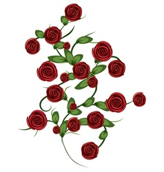 Red roses ornament vector