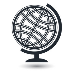 Globe earth icons on white background vector