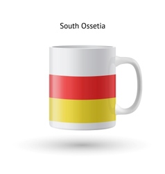 South ossetia flag souvenir mug on white vector