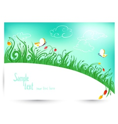Spring and summer floral vector