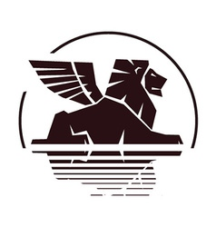 Lion silhouette insignia vector
