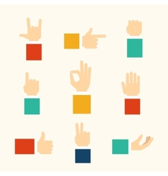 Hands gestures icons vector
