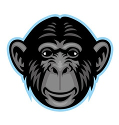 Chimp head vector