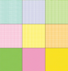 Easter plaids and dots vector