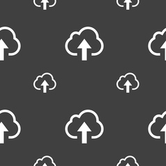 Upload from cloud icon sign seamless pattern on a vector
