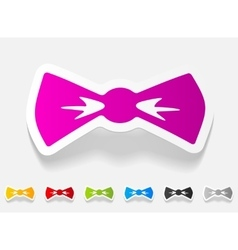Realistic design element bow tie vector