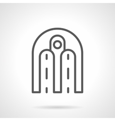 Architecture arch simple line icon vector image vector image