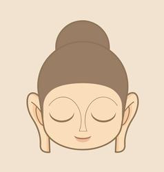 Buddha statue head vector image vector image