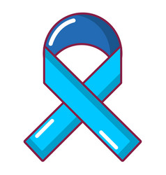 cancer ribbon icon cartoon style vector image vector image