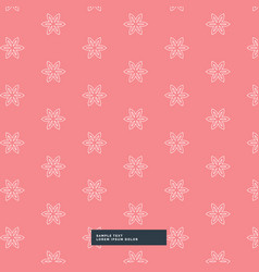 Cute simple flower pattern background vector