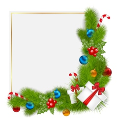 decorative border from a traditional Christmas vector image