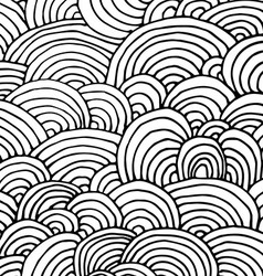 doodle drawn background vector image vector image