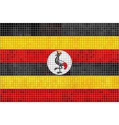 Flag of uganda vector