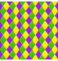Green purple yellow grid Mardi gras seamless vector image