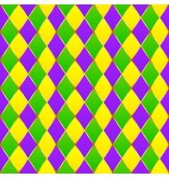 Green purple yellow grid Mardi gras seamless vector image vector image