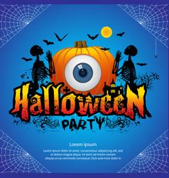 halloween party banner vector image vector image