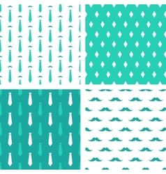 hipster seamless patterns vector image vector image
