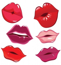 lips and kiss vector image vector image