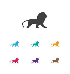 Of animal symbol on lion icon vector