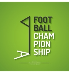 Poster for the football championship vector