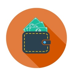 Purse with dollar vector image vector image