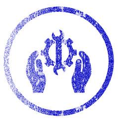 Repair service grunge textured icon vector