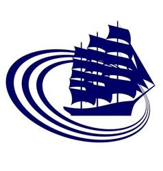 Sailing ship-11 vector