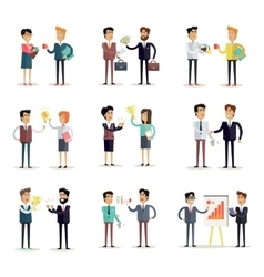 Set of business concepts in flat design vector