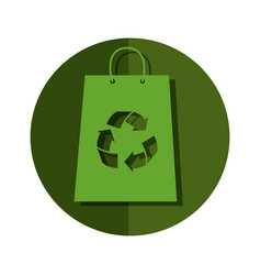 Shopping bag with recycle symbol vector