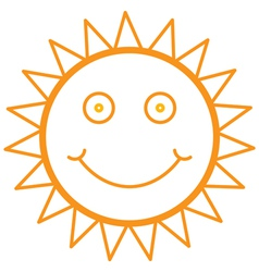 smiley sun vector image