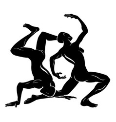 Stylised dancers vector