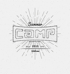 Summer camp badges logos and labels for any use vector image