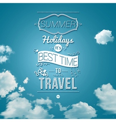 Summer holidays poster in cutout paper style vector