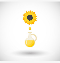 sunflower oil flat icon vector image vector image