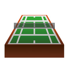Tennis court field vector
