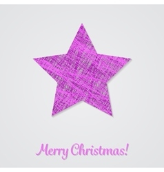 Violet star on a white background vector image