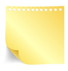 Yellow paper note vector image vector image