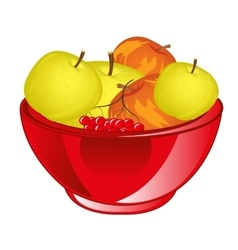 Red apple chalice vector