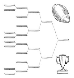 Doodle sports bracket nfl vector