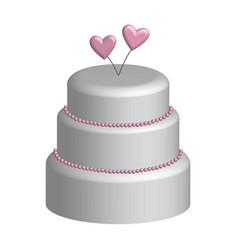 Wedding cake in 3d vector