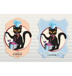 Cat cook vector
