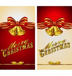 Christmas Menu Card Bells vector image