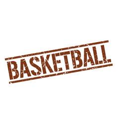 Basketball stamp vector